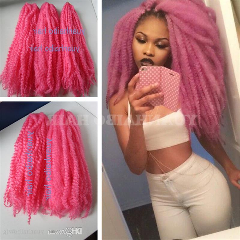 Wholesale Price 20In Folded Baby Pink Color Synthetic Marley Braids Afro Twist Braiding Hair Free Shipping Intended For Most Up To Date Baby Pink Braids Hairstyles (View 8 of 25)