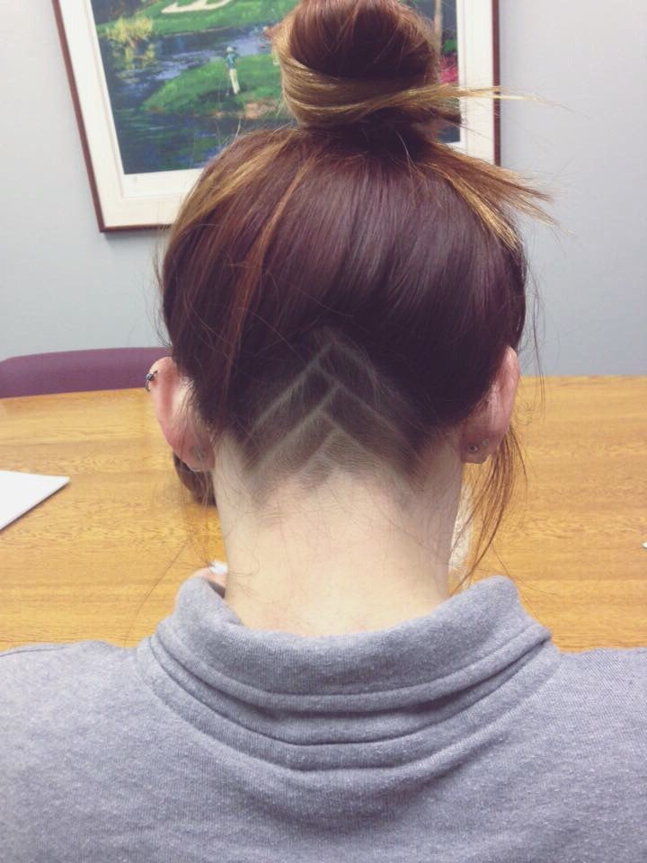 Women's Shaved Undercut | Hair Tattoos | Hair Styles, Shaved With Most Up To Date Shaved Undercuts (View 6 of 25)