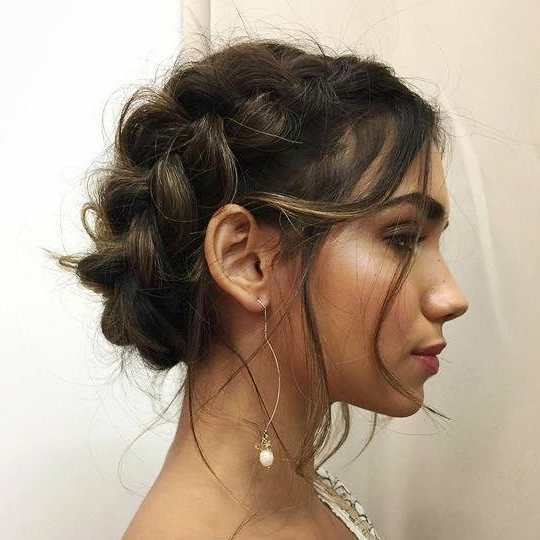 Zaylovin #hair #hairstyle | ??? | Braided Hairstyles, Prom For Most Popular Messy Crown Braid Hairstyles (View 14 of 25)
