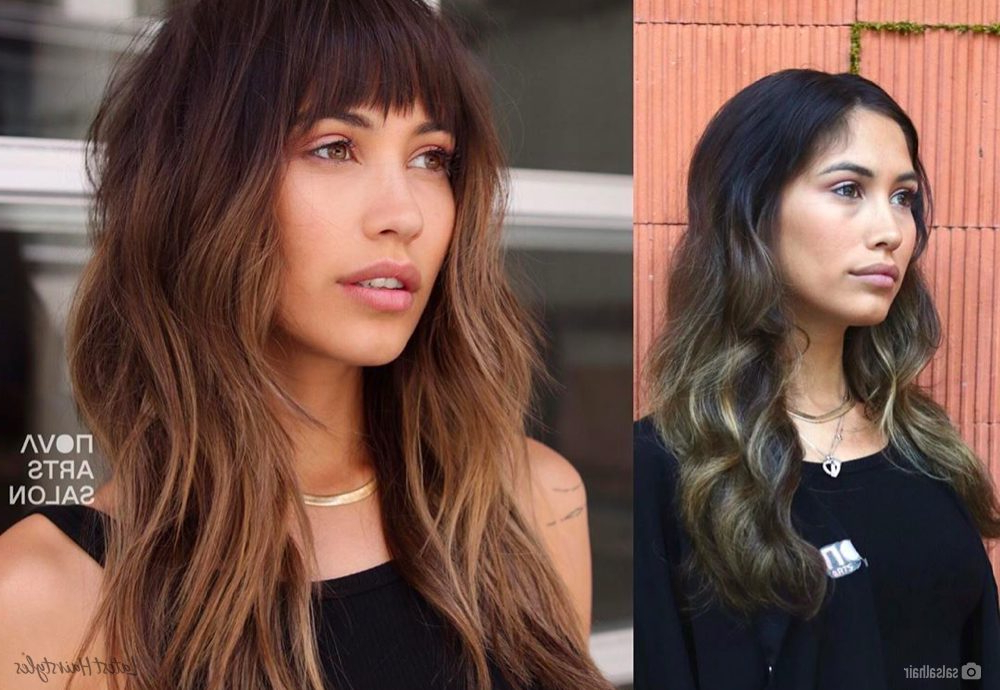 14 Trendiest Long Layered Hair With Bangs For 2020 With Regard To Most Recent Long Curtain Feathered Bangs Hairstyles (View 13 of 25)