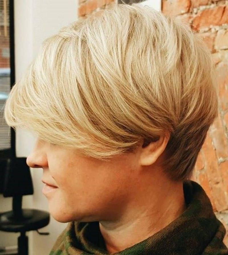 177 Modern Wedge Haircut Approaches – The Feathery Effect Throughout Most Recently Oblique Feathered Bangs And A Pixie Cut Hairstyles (View 24 of 25)