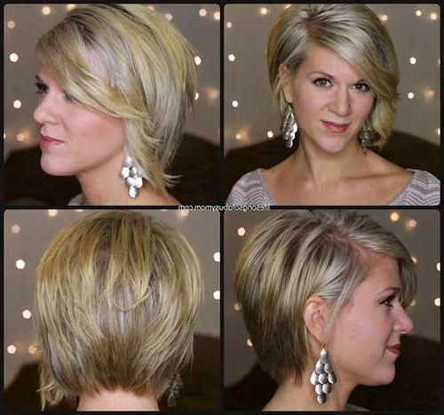 22 Asymmetrical Short Haircuts Regarding Most Recently Asymmetrical Feathered Bangs Hairstyles With Short Hair (View 7 of 25)