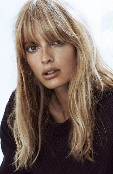 25 Gorgeous Long Hair With Bangs Hairstyles – The Trend Spotter Throughout Most Recently Long Curtain Feathered Bangs Hairstyles (View 22 of 25)
