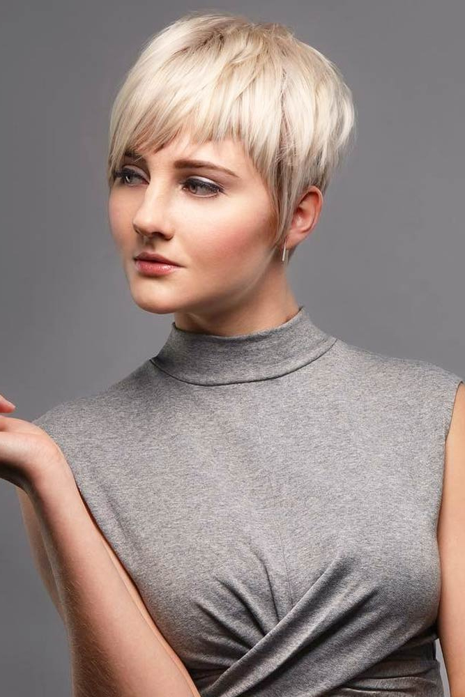 75 Pixie Cut Ideas To Suit All Tastes In 2020 Intended For Most Up To Date Asymmetrical Feathered Bangs Hairstyles With Short Hair (View 19 of 25)