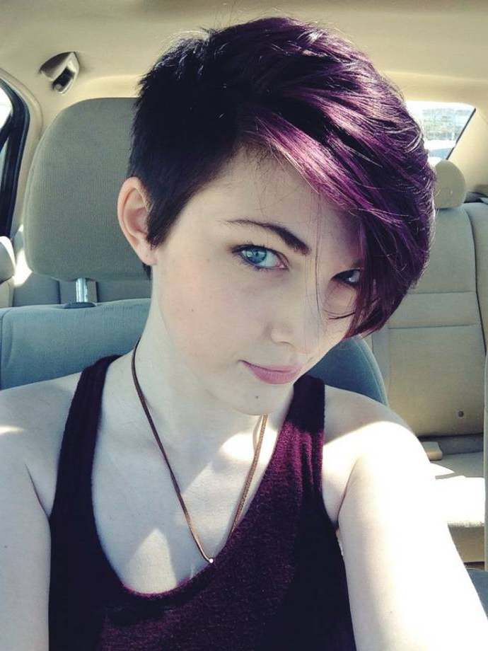 Best Hairstyle Ideas For Short Length Black Hairstyles With With Most Current Oblique Feathered Bangs And A Pixie Cut Hairstyles (View 19 of 25)