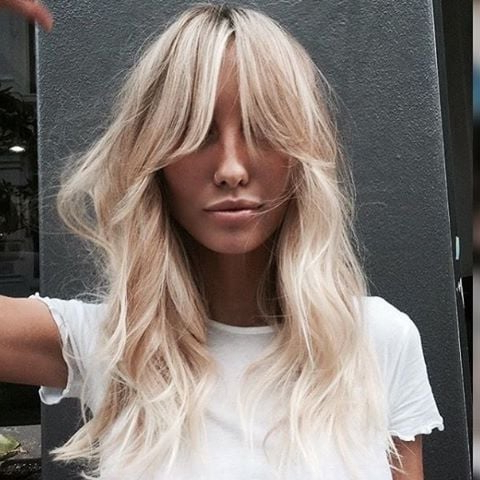 Curtain Bangs Hairstyle Ideas   Popsugar Beauty Intended For Current Long Curtain Feathered Bangs Hairstyles (View 14 of 25)