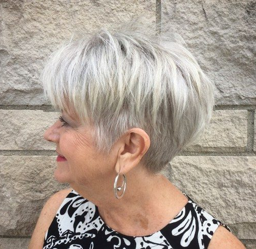 Grey Hairstyles For Over 60S – Short Hair Models Intended For 2018 Oblique Feathered Bangs And A Pixie Cut Hairstyles (View 25 of 25)