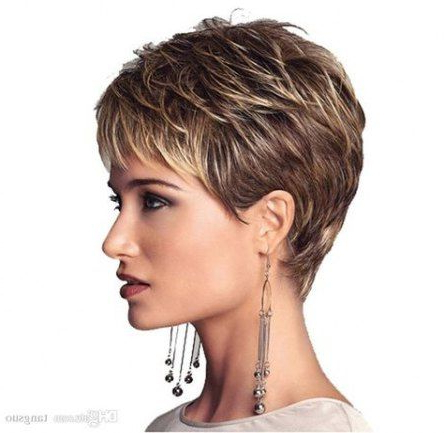 Haircut Men Grey Older Women 43 New Ideas #Haircut | Short For Recent Oblique Feathered Bangs And A Pixie Cut Hairstyles (View 13 of 25)