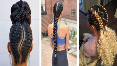 19 Ideas Of Braids Hairstyles For Natural Hair   New In Most Current Double Rose Braids Hairstyles (View 21 of 25)