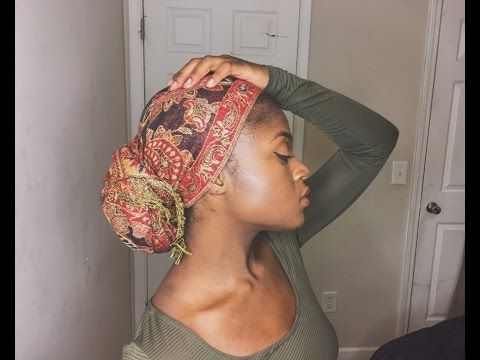 2 Quick And Easy Turban Head Wrap Styles Tutorial With In Most Recently Head Wrap Braid Hairstyles (View 2 of 25)