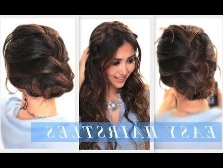 2 Surprisingly Easy Hairstyles   Braided Bun & Half Up With Most Up To Date Folded Braided Updo Hairstyles (View 15 of 25)