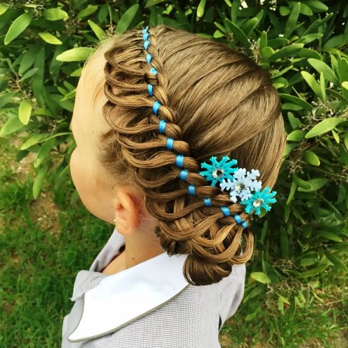 20 Fantastic Braid Styles For Girls Regarding Recent Pancaked Side Braid Hairstyles (View 3 of 25)