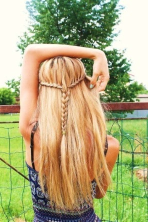 20 Pretty Braided Hairstyles For Straight Hair For Newest Hippie Braid Headband Hairstyles (View 13 of 25)