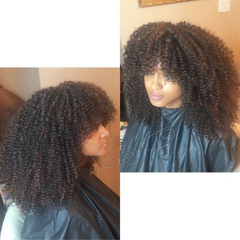 28 Trendy Crochet Braids With Bangs Curls Protective Regarding Newest Loose Double Braids Hairstyles (View 9 of 25)