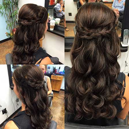30 Gorgeous Braided Half Up Half Down Hairstyles Pertaining To Most Up To Date Rope Half Braid Hairstyles (View 16 of 25)