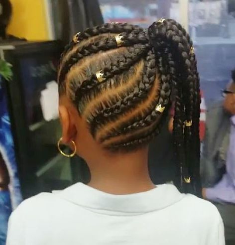 35 Amazing Natural Hairstyles For Little Black Girls For Most Up To Date Chic Black Braided High Ponytail Hairstyles (View 3 of 25)