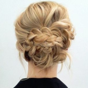35 Chic & Messy Updo Hairstyles For Luxuriously Long Hair Throughout Newest Messy Twisted Braid Hairstyles (View 15 of 25)