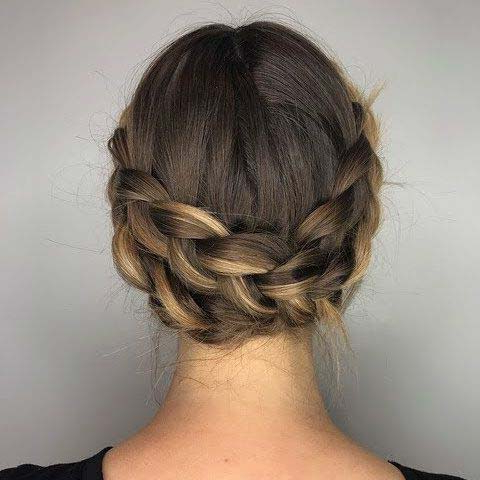 41 Cute Braided Hairstyles For Summer 2019   Stayglam Inside Most Popular Braided Crown Rose Hairstyles (View 18 of 25)