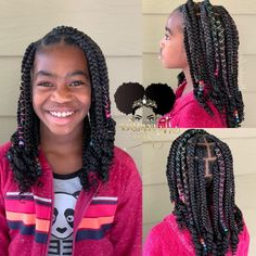47 Best Box Braids Images | Box Braids Hairstyles, Natural Within Current Light Pink Semi Crown Braid Hairstyles (View 25 of 25)
