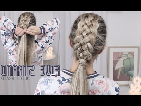 (6) Beautiful Five (5) Strand Dutch Braid Tutorial – How With Regard To Most Recent Dutch Heart Braid Hairstyles (View 9 of 25)