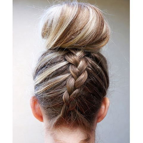 7 Gorgeous Ways To Style Wet Hair   Braided Top Knots Throughout Most Recently Knotted Braided Updo Hairstyles (View 5 of 25)