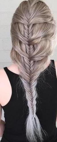 Ash Blonde Mermaid Fishtail Braid (View 2 of 25)