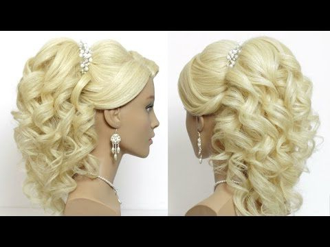 Banana Split Hairstyle | Curls For Long Hair, Prom In 2020 Light Pink Semi Crown Braid Hairstyles (View 6 of 25)
