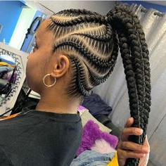 Best Braiding Hair For Box Braids,Best Hair For Box Braids Within Most Current Loose Double Braids Hairstyles (View 23 of 25)