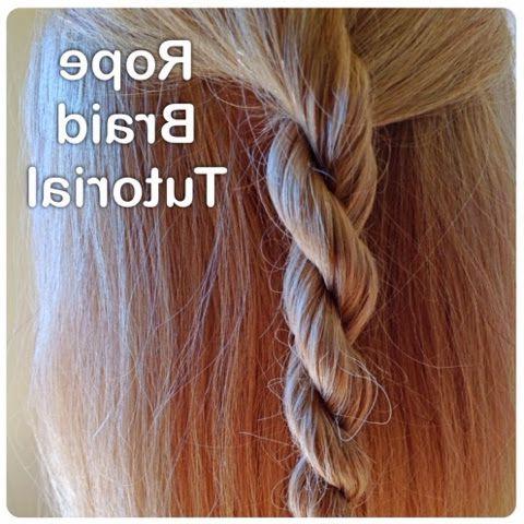 Blog: Rope Braid Tutorial | Rope Braid Tutorials, Braid Throughout Current Rope And Braid Hairstyles (View 12 of 25)