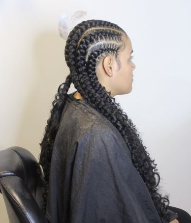 Bohemian Feed In Braids Ig Asshleybanks   Braids With With Regard To 2020 Boho Braided Half Do Hairstyles (View 6 of 25)