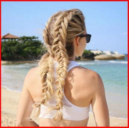 Braid Hairstyles Boho Brides #Jumboboxbraids   Fish Tail In Most Recently Defined French Braid Hairstyles (View 24 of 25)