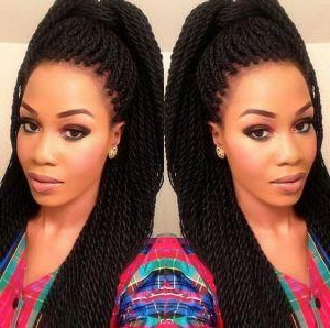 Braid Hairstyles Boho Updo #Twistbraids   Crochet Braids With Regard To Most Up To Date Loose Double Braids Hairstyles (View 15 of 25)