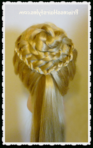 Braided Flower Corsage Hairstyle For Weddings And Prom With Regard To Most Up To Date Rolled Roses Braids Hairstyles (View 22 of 25)