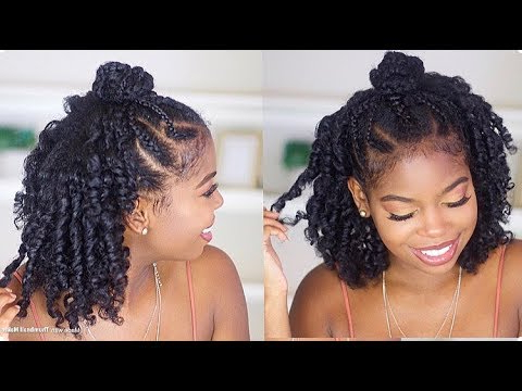 Braided Top Knot Style On Natural Hair Ft (View 21 of 25)