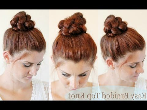 Braided Top Knot Tutorial   Easy Hairstyles For Long Hair Regarding Recent Braided Top Knot Hairstyles (View 13 of 25)