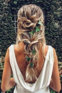 Bridal Hair   35 Braided Wedding Hairstyles Pertaining To Newest Loose Double Braids Hairstyles (View 8 of 25)