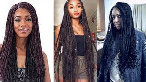 Charming Long Box Braids With Loose Ends   New Natural Regarding Most Popular Loose Double Braids Hairstyles (View 21 of 25)