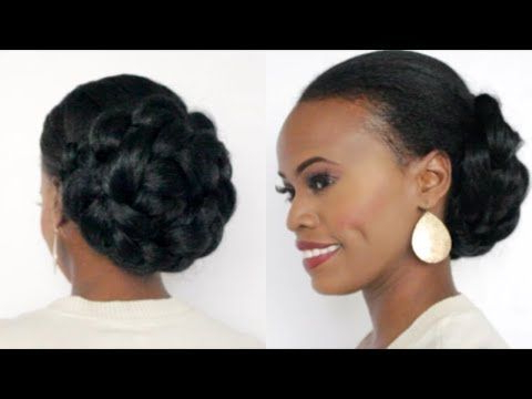 Coiffure Cheveux Crépus | Rolled Up Twist – Youtube With Most Current Rolled Roses Braids Hairstyles (View 4 of 25)