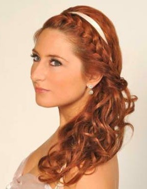 Cute Medium Haircuts: February 2012 Intended For Current Folded Braided Updo Hairstyles (View 23 of 25)