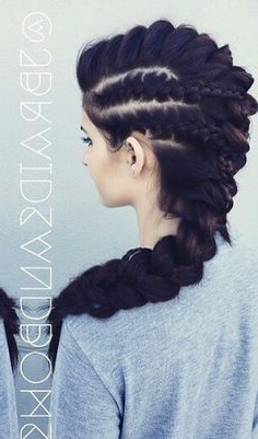 Cute Oversized Braided Mohawk Hairstyle @Jbraidsandbows For 2020 Pouf Braided Mohawk Hairstyles (View 6 of 25)
