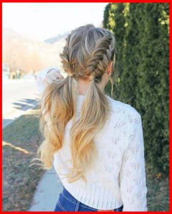 Double Dutch Fishtail Braids | Short Hair Models With Regard To Current Double Braided Single Fishtail Braid Hairstyles (View 17 of 25)