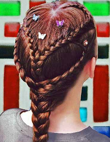 Double Dutch Heart Braid (With Images) | Hair Styles Throughout Most Current Quad Dutch Braids Hairstyles (View 8 of 25)