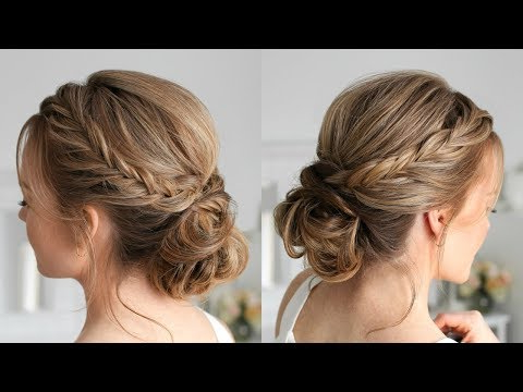 Double Fishtail French Braid Updo | Missy Sue – Youtube Within Most Popular Double Braided Single Fishtail Braid Hairstyles (View 22 of 25)