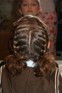 Double French Braids W/Messy Flips   Cute Girls Hairstyles Intended For 2020 Defined French Braid Hairstyles (View 13 of 25)