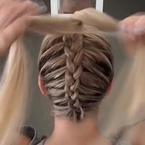 Dutch Braid Into Messy Bun #Longhairbraids | Hair Styles For Recent Dutch Heart Braid Hairstyles (View 14 of 25)