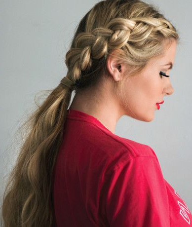 Dutch Braid Ponytail Tutorial | Braided Ponytail, Braided With Most Current Quad Dutch Braids Hairstyles (View 24 of 25)