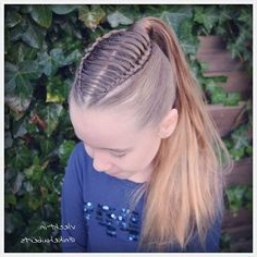 Dutch Braids/Feathered Braid Into Ponytail | Hair Styles Pertaining To Most Popular Quad Dutch Braids Hairstyles (View 18 of 25)