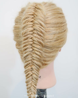 Dutch Fishtail Braid (Single Braid) – Everyday Hair With Regard To Recent Double Braided Single Fishtail Braid Hairstyles (View 16 of 25)