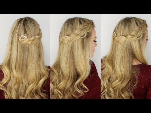 Dutch Headband Braid | Hair Videos, Hairstyle Youtube Regarding Latest Quad Dutch Braids Hairstyles (View 5 of 25)
