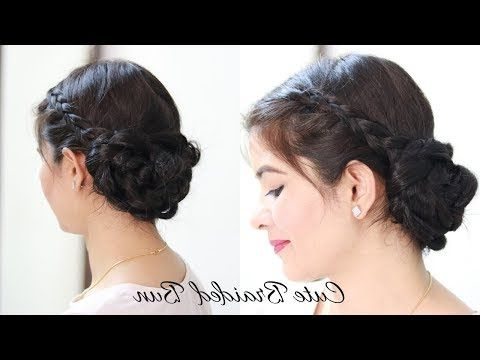 Easy Everyday Messy Bun Hairstyle For School, College,Work Regarding Most Recent Messy Twisted Braid Hairstyles (View 6 of 25)